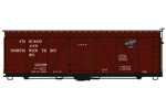 Chicago & North Western 36' Fowler Wood Box Car #121159