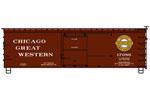 Chicago Great Western 36' Double Sheath Wood Box Car #17086