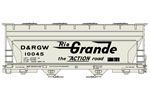 Denver & Rio Grande Western ACF 2-Bay Covered Hopper #10045