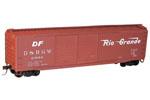 Denver & Rio Grande Western 50' Double Door Riveted Steel Box Car #63684