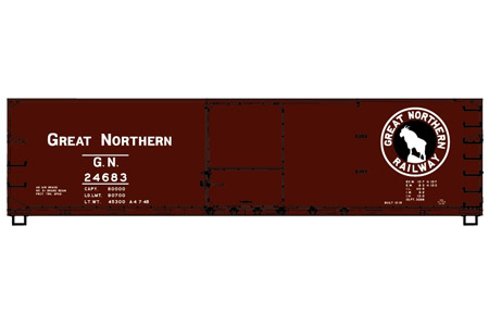 Great Northern 40' Double Sheath Wood Box Car #24683