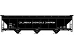 Columbian Chemicals ACF 3-Bay Covered Hopper #445