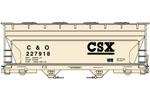 CSX (C&O) ACF 2-Bay Covered Hopper #227918
