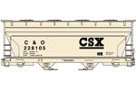 CSX (C&O) ACF 2-Bay Covered Hopper #228105