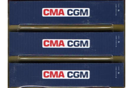 40' Corrugated Container 3 Pack - CMA-CGM