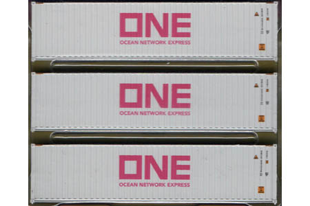 40' Corrugated Container 3 Pack - Ocean Network Express