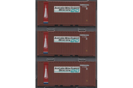 20' Corrugated Container 3 Pack - Australia-New Zealand Direct Line