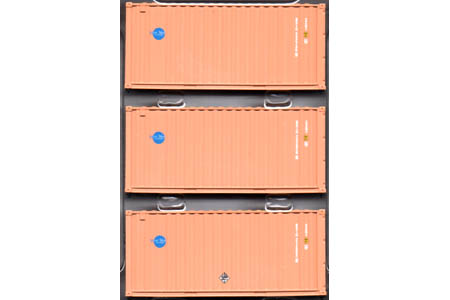 20' Corrugated Container 3 Pack - Blue Sky