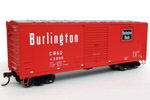 Chicago, Burlington & Quincy 40' Modernized Box Car #43999