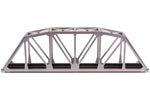 "C83 18"" Through Truss Bridge Kit (Silver)"