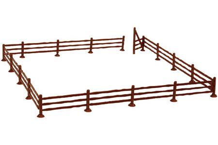 3-Rail Fence & Gate