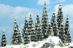 Snow Covered Pine Trees (20 Pack)