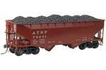 Santa Fe 50-Ton AAR Standard 2-Bay Offset Open Hopper #78231