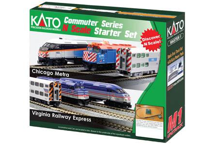 Chicago Metra F40PH & Gallery Bi-Level Commuter Train Set