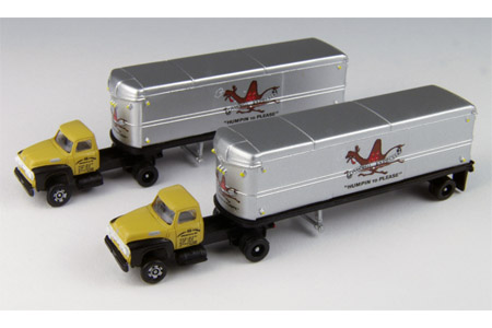 1954 Ford Tractor/Trailer 2 Pack - Campbell Express