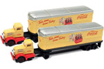 White WC-22 Tractor/Trailer 2 Pack - Coca Cola