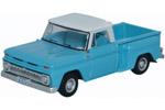1965 Chevy Stepside Pickup Truck (Light Blue/White)