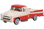 1957 Dodge D100 Sweptside Pickup Truck (Tropical Coral/Glacier White)