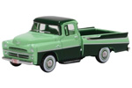 1957 Dodge D100 Sweptside Pickup Truck (Forest Green/Misty Green)