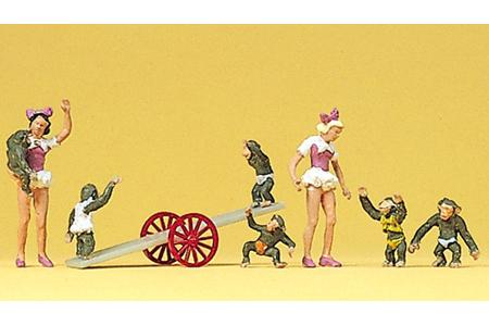 Circus - Girls w/ Performing Monkeys