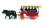 Circa 1900 - Fire Wagon w/ Firemen