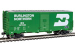Burlington Northern 40' AAR Modernized 1948 Box Car #187030