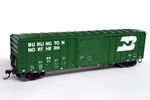 Burlington Northern 50' ACF Exterior-Post Box Car #249437