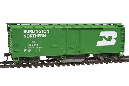 Burlington Northern 40' Plug Door Track Cleaning Box Car #329808