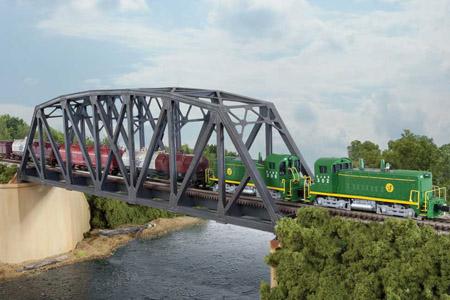 Single Track Arched Pratt Truss Bridge