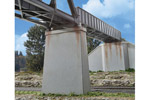 Single Track Concrete Bridge Piers (2 Pack)