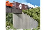 Single Track Concrete Bridge Abutments (2 Pack)