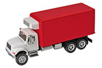 International 4900 Dual-Axle Refrigerated Van (White/Red)