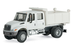 International 4300 Crew Cab Dump Truck (White)