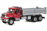 International 7600 3-Axle Heavy-Duty Dump Truck (Red/Silver)