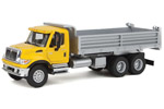 International 7600 3-Axle Heavy-Duty Dump Truck (Yellow/Silver)