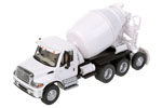 International 7600 3-Axle Cement Mixer (White)