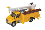 International 4300 Utility Truck w/ Drill (Yellow)