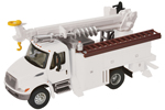 International 4300 Utility Truck w/ Drill (White)