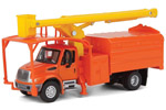International 4300 Dual-Axle Truck w/ Tree Trimmer Body (Orange/Yellow)