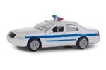 Ford Crown Victoria Police Interceptor - Police, Sheriff & Highway Patrol (White w/ Blue Stripe)