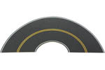 Flexible Self-Adhesive Paved Roadway - Vintage/Modern Highway Curve Section