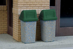 Modern Trash Cans (24 Pack)