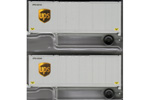 28' Container w/ Chassis 2 Pack - UPS (Modern Shield)