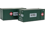 20' Smooth Side Container 2 Pack - Railway Express Agency