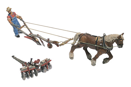 Scenic Details® Plow, Disc, Horse & Man