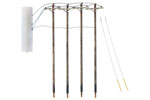 Single Crossbar Pre-Wired Poles (4 Pack)