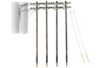 Double Crossbar Pre-Wired Poles (4 Pack)